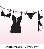 pantie  bra and  lingerie...   Shutterstock .eps vector #74909194