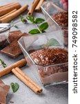 Small photo of Chocolate pudding delish food