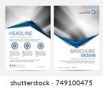 brochure template flyer design... | Shutterstock .eps vector #749100475