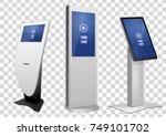 set of promotional interactive... | Shutterstock .eps vector #749101702