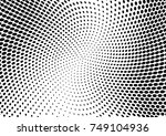 abstract halftone dotted grunge ... | Shutterstock .eps vector #749104936