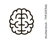 brain  line icon. high quality... | Shutterstock .eps vector #749105566