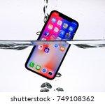 riga  november 5   newly... | Shutterstock . vector #749108362
