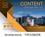 presentation layout design... | Shutterstock .eps vector #749108698