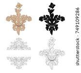 classical baroque vector set of ... | Shutterstock .eps vector #749109286