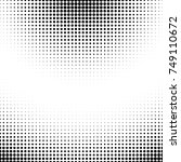 grunge halftone textured... | Shutterstock .eps vector #749110672