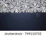 merry christmas and happy new... | Shutterstock .eps vector #749110732