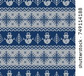knitted seamless pattern with...   Shutterstock .eps vector #749114188