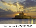 agios nikolaos fortress on the... | Shutterstock . vector #749120065