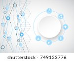 science template  wallpaper or... | Shutterstock .eps vector #749123776
