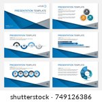 template presentation slides... | Shutterstock .eps vector #749126386