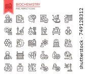 biochemistry elements   thin... | Shutterstock .eps vector #749128312
