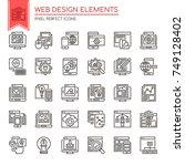 web design elements   thin line ...