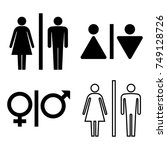 set of wc icons. gender icon....   Shutterstock .eps vector #749128726