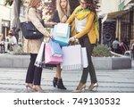 beautiful women in shopping