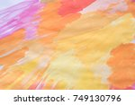 yellow and orange watercolors ... | Shutterstock . vector #749130796