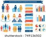 collection of infographic... | Shutterstock .eps vector #749136502