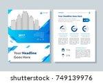 annual report  broshure  flyer  ... | Shutterstock .eps vector #749139976