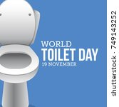 world toilet day. vector... | Shutterstock .eps vector #749143252