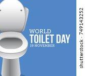 world toilet day. vector...   Shutterstock .eps vector #749143252