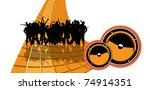 music background | Shutterstock .eps vector #74914351