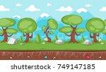 vector cartoon style horizontal ... | Shutterstock .eps vector #749147185