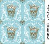 beautiful bohemian damask... | Shutterstock .eps vector #749150212
