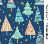 vector seamless pattern with... | Shutterstock .eps vector #749150992