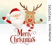 merry christmas vector... | Shutterstock .eps vector #749157292