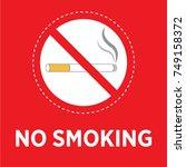 no smoking vector icon | Shutterstock .eps vector #749158372