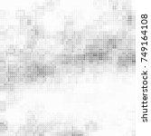 halftone black  white  gray... | Shutterstock .eps vector #749164108
