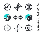 vector dna signs  biotech icons ... | Shutterstock .eps vector #749169166