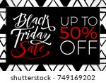 black friday sale banner... | Shutterstock .eps vector #749169202