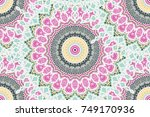 hand drawn gold mandala... | Shutterstock .eps vector #749170936