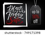 black friday sale banner... | Shutterstock .eps vector #749171398