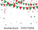 christmas background with red... | Shutterstock .eps vector #749173396