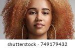 portrait of a strong confident... | Shutterstock . vector #749179432