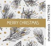 christmas postcard ornament...   Shutterstock .eps vector #749179828