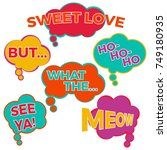 set of six cartoon comic... | Shutterstock .eps vector #749180935