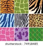 vector animal skin texture | Shutterstock .eps vector #74918485