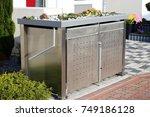 garbage can storage  garbage... | Shutterstock . vector #749186128