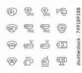 Cctv Camera Vector Icon Set.