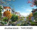 3d render building landscape | Shutterstock . vector #74919085