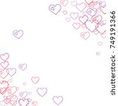 pink hearts confetti. scattered ... | Shutterstock .eps vector #749191366