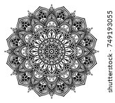 decorative hand drawn mandala | Shutterstock .eps vector #749193055