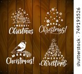 vector set of holidays... | Shutterstock .eps vector #749193526