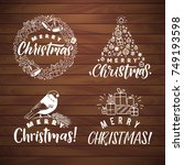 vector set of holidays... | Shutterstock .eps vector #749193598