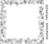 black snowflakes frame | Shutterstock .eps vector #749194105