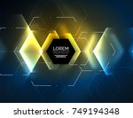 digital techno abstract... | Shutterstock .eps vector #749194348