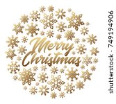 christmas poster with... | Shutterstock .eps vector #749194906